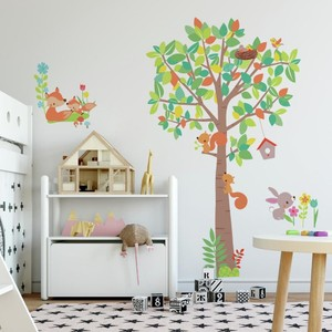 Woodland Creatures Tree Giant Wall Decal