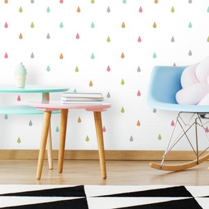 Pastel Raindrop Peel and Stick Wall Decal