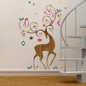 Ornamental Reindeer Giant Wall Decals