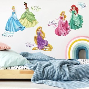 Disney Princess Royal Debut Wall Decals with Glitter
