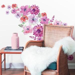 Kathy Davis Watercolor Blooms Wall Decals
