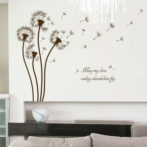 Brown Dandelion Wall Decals