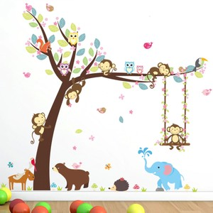 Monkey Jungle Tree Wall Decal