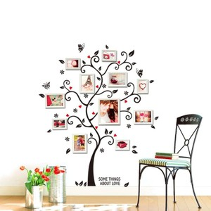 Photo Tree wall Decal With Quote