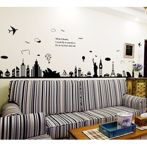 Eiffel Tower Sydney Greek City Building Wall Decal