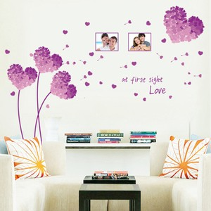 Purple Grass At First Sight Love Wall Decal