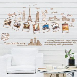 Photo Frame Travel Around the World Wall Decal