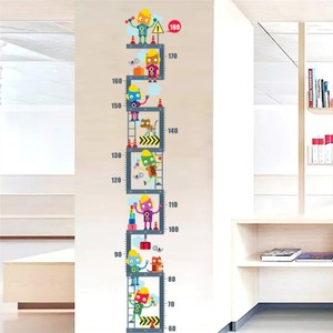 Robot Upstairs Height Measure Wall Decal