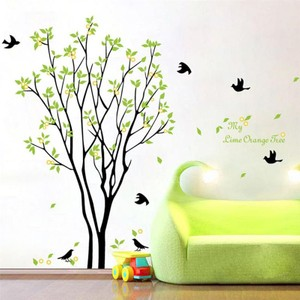 Green Leaves Tree Wall Decal