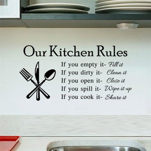 Our Kitchen Rules Quote Wall Decal