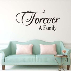 Forever A Family Quote Wall Decal