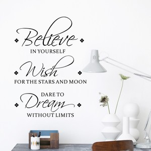 Believe Wish Dream Quote Wall Decal