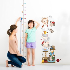 Cat Height Growth Chart Wall Decal