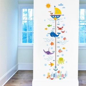 Sea Animals And Undersea Height Growth Chart Wall Decal
