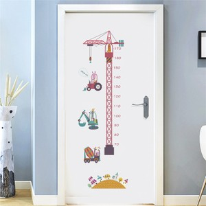 Tower Crane Construction Height Growth Chart Wall Decal