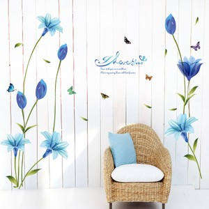 Blue Lily Flower Wall Decal