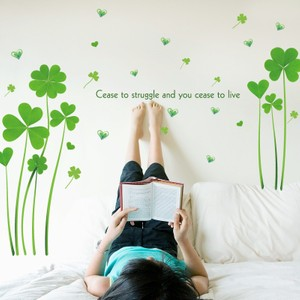 Green Clover With Famous Quote Wall Decal