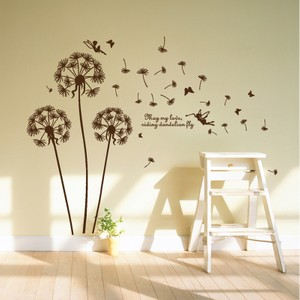 Brown Dandelion With Quote Wall Decal