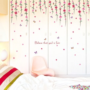 Pum Blossom And Flower Vine Hanging Wall Decal
