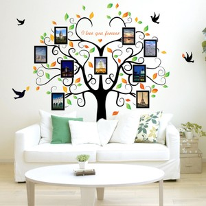 Black Tree With Photo Frame Wall Decal