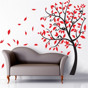 Love Nested Bird Tree Carved Wall Decal
