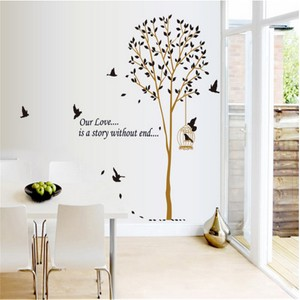 Tree And Bird With Love Quote Wall Decal