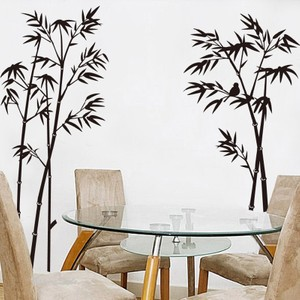 Large Black Bamboo Wall Decal
