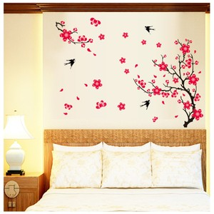 Red Plum Blossom Wall Decal