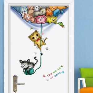 The World of Cat Door Wall Decal