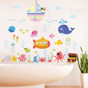 Undersea World Fish Submarine And Ship Wall Decal