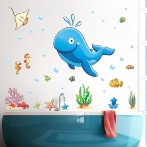 Gigantic Whale In Undersea World Wall Decal