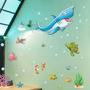 Gigantic Shark In Undersea World Wall Decal