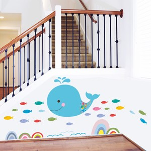 Whale And Fish Wall Decal
