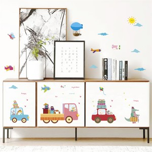 Happy Travel Together Animal Driving Wall Decal