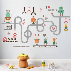 Robot And Road Wall Decal