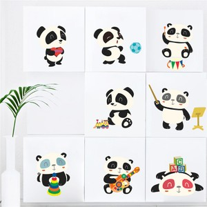 Eight Giant Panda Wall Decal