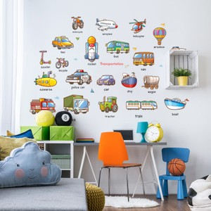 Transportation And Vehicle Names For Learning Wall Decal