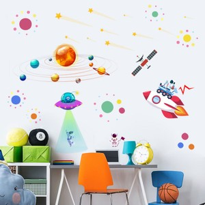Solar System UFO Astronaut Galaxy Wall Decal