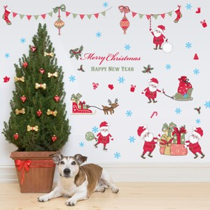Merry Christmas Santa Claus Wall Decal