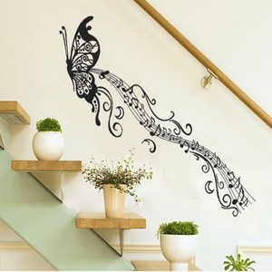 Black Butterfly Silhouette Wall Decal