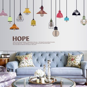 Colorful Chandelier With Hope Quote Wall Decal