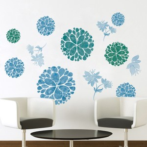 Green Bouquet Wall Decals