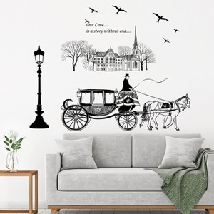 Classic Carriage Appeal Love Wall Decal